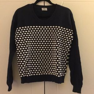 Madewell (Wallace) Sweater - Candydot, Navy/white